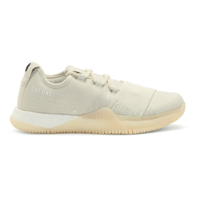 ADIDAS DAY ONE Adidas Day One Beige Crazy Train Sneakers in Talc/White/Black