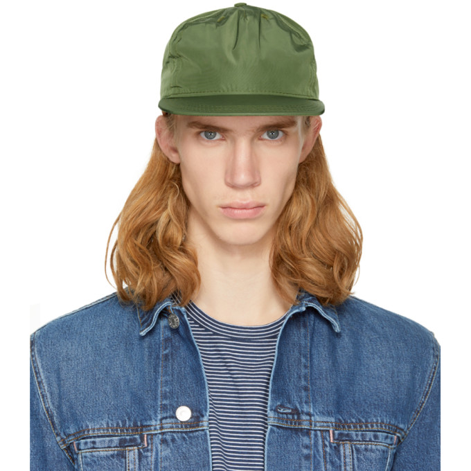 PAA Paa Green Pleat Cap in 009 Olive