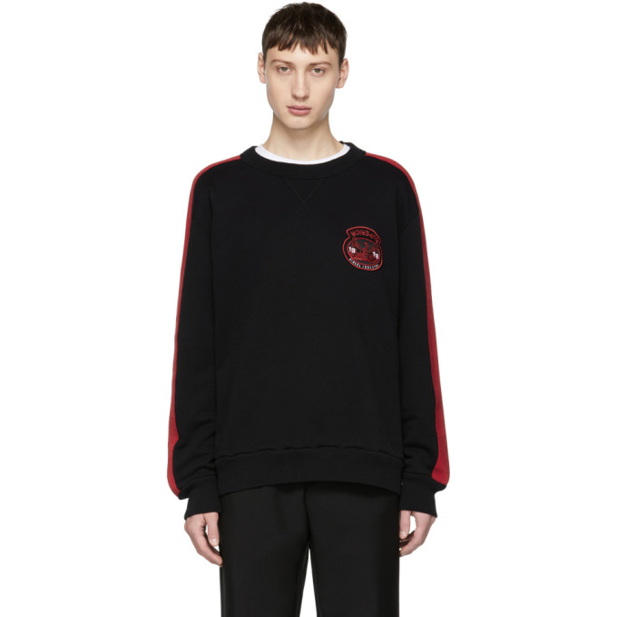Black & Red S Bay Sweatshirt by Diesel