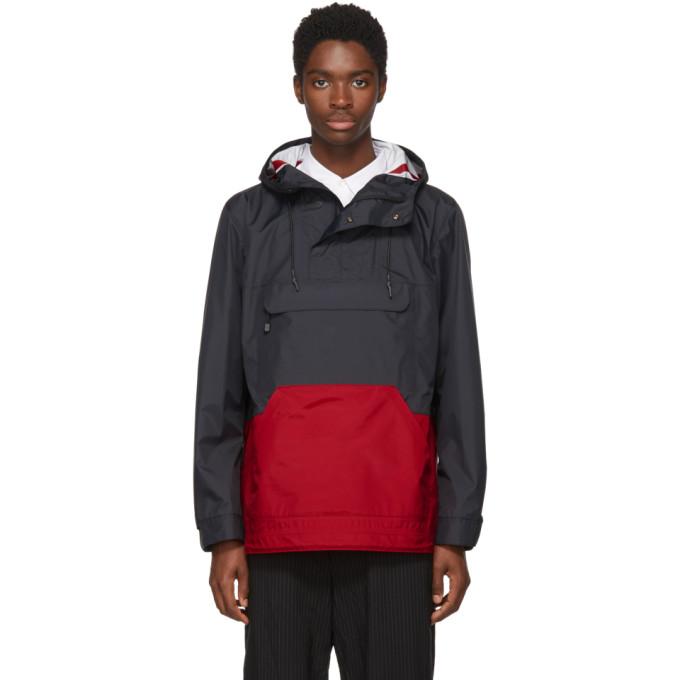 Black & Red Popover Jacket by Comme Des GarÇons Homme