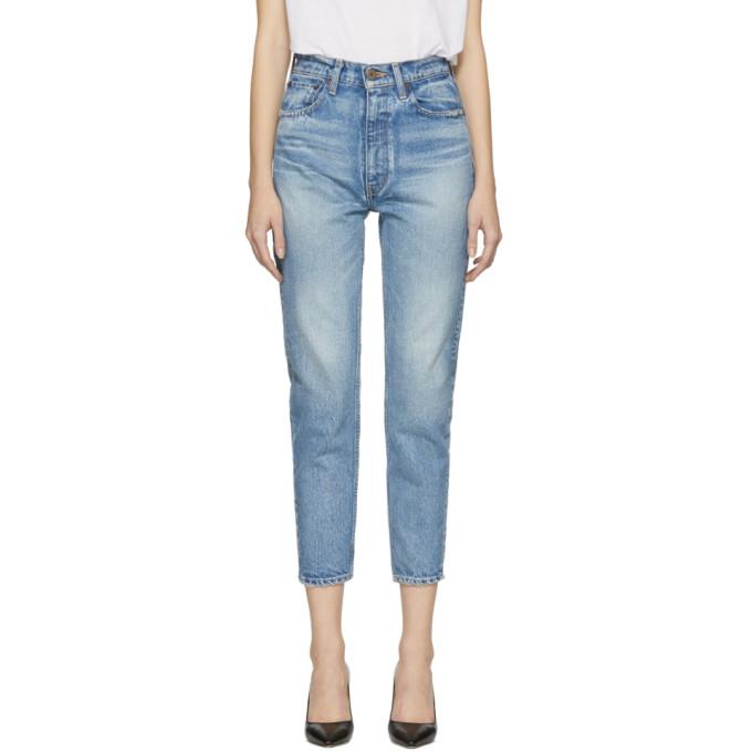 MOUSSY Moussy Vintage Blue Glen Boy Skinny Jeans in L/Blu