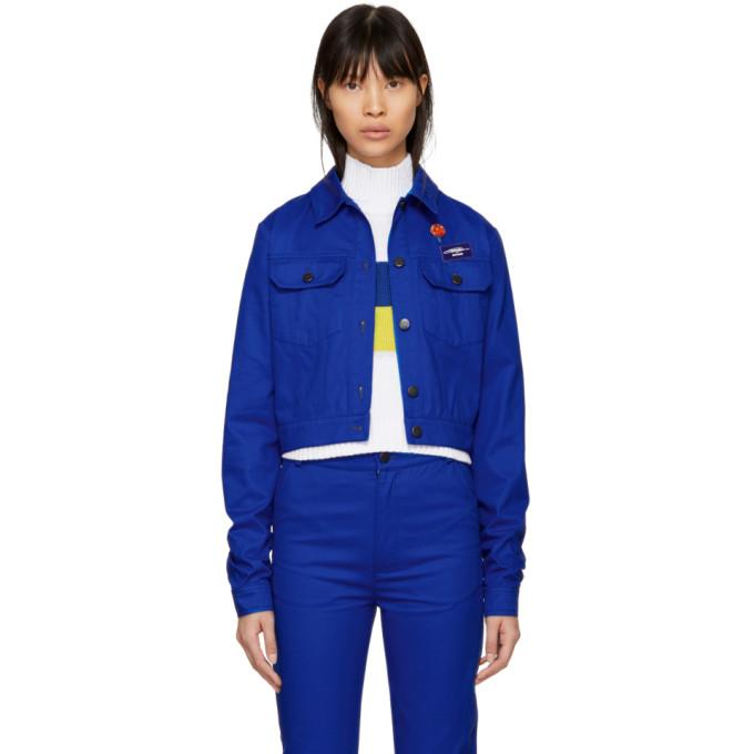 ANTON BELINSKIY Anton Belinskiy Blue Twill Jacket