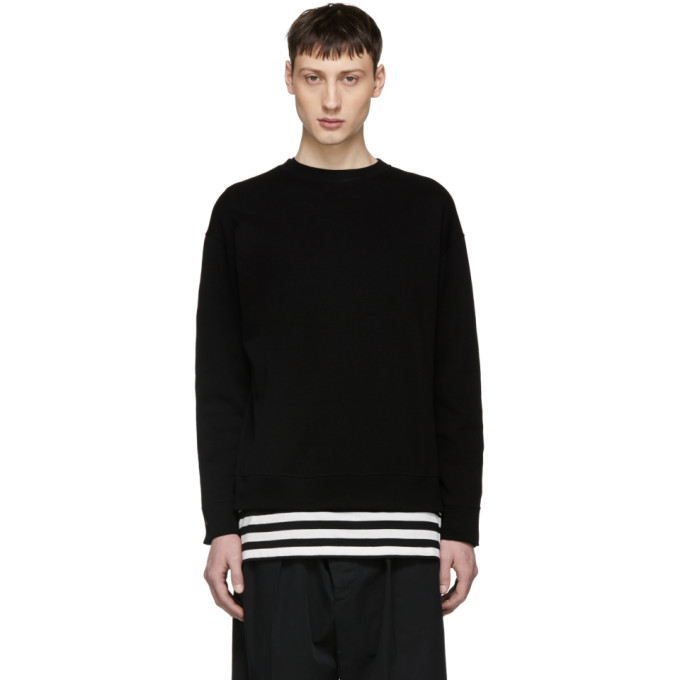 ALMOSTBLACK Almostblack Black Back Slit Zip Sweatshirt