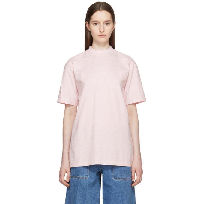 Acne Studios Pink Gojina Dyed T-Shirt in Pink Melang