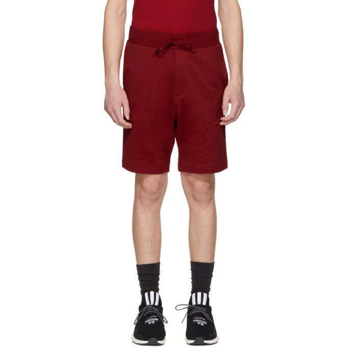 Y-3  Red Classic Logo Shorts