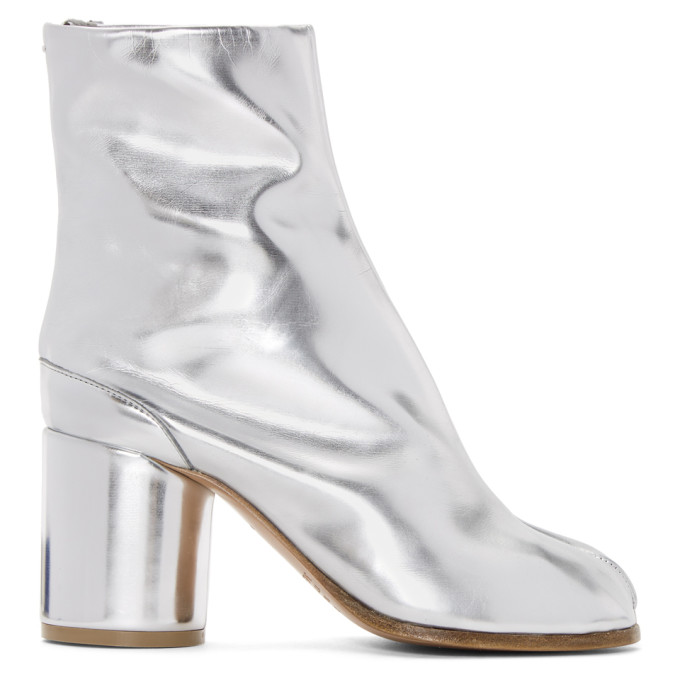 SSENSE Exclusive Silver Tabi Boots