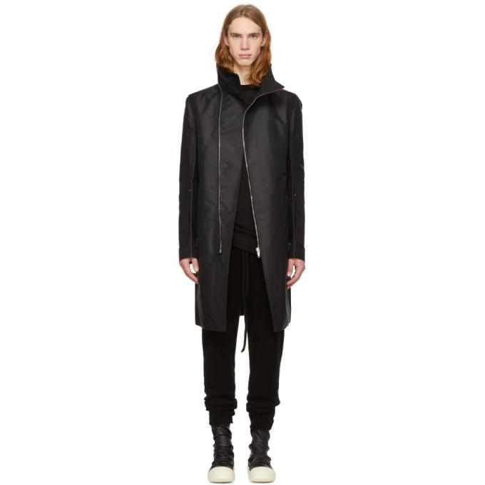 Black Tubeway Coat by Rick Owens
