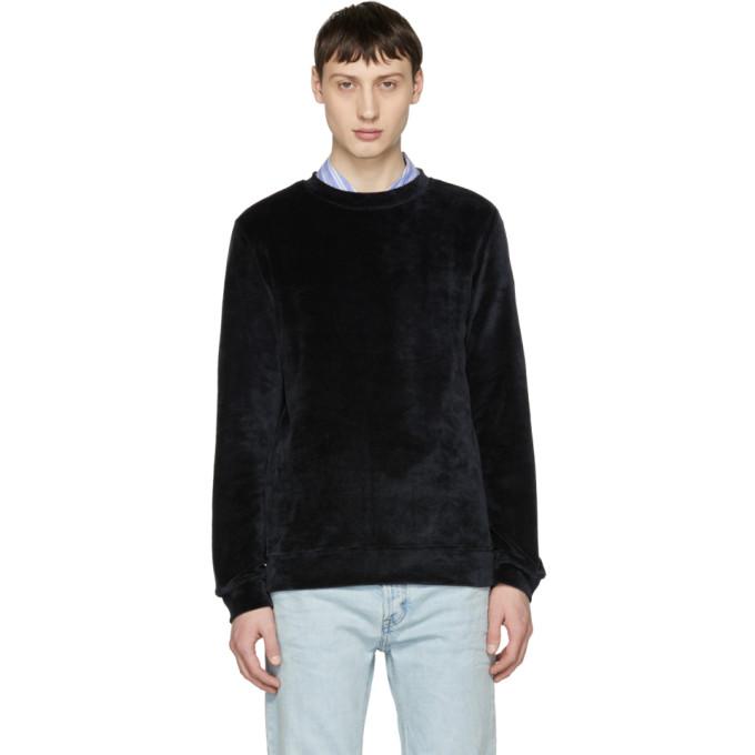 Black Velour Jeremy Sweatshirt by A.P.C.