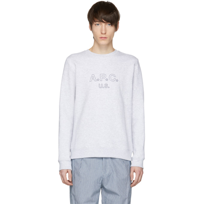 Grey 'us' Star Logo Sweatshirt by A.P.C.