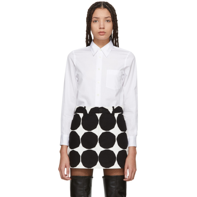 White Broadcloth Shirt by Junya Watanabe