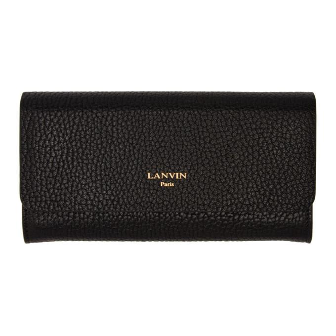 LANVIN Black Longline Wallet