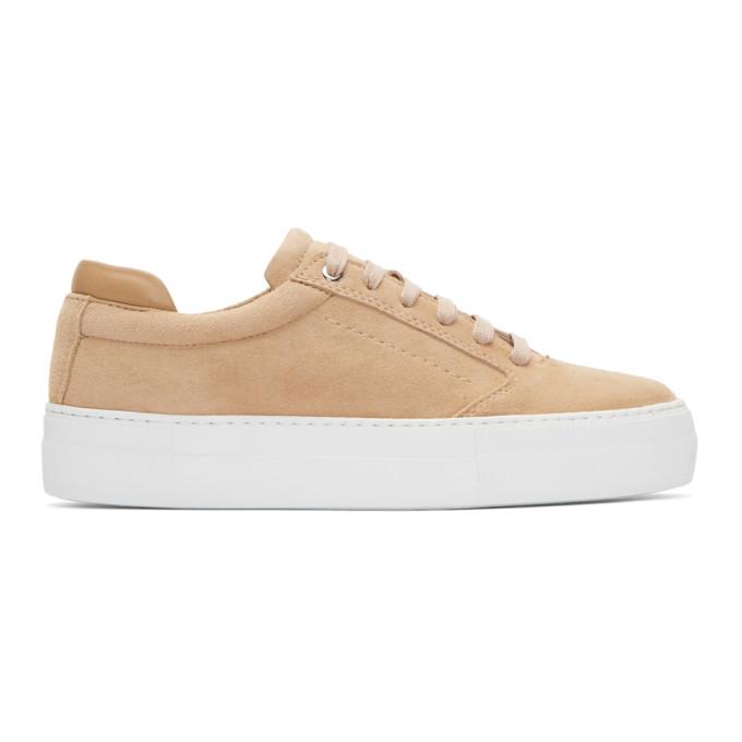 WANT LES ESSENTIELS DE LA VIE Want Les Essentiels Pink Suede Lalibela Sneakers in 611 Sirocco