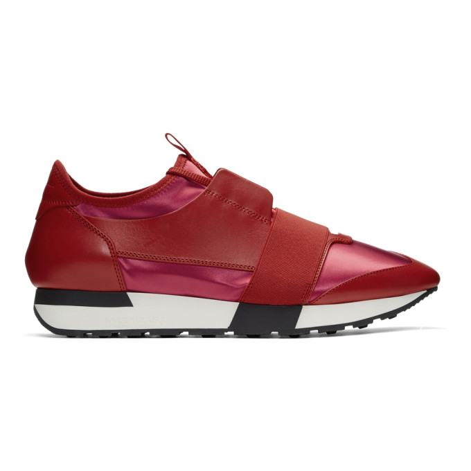 Red Race Sneakers by Balenciaga
