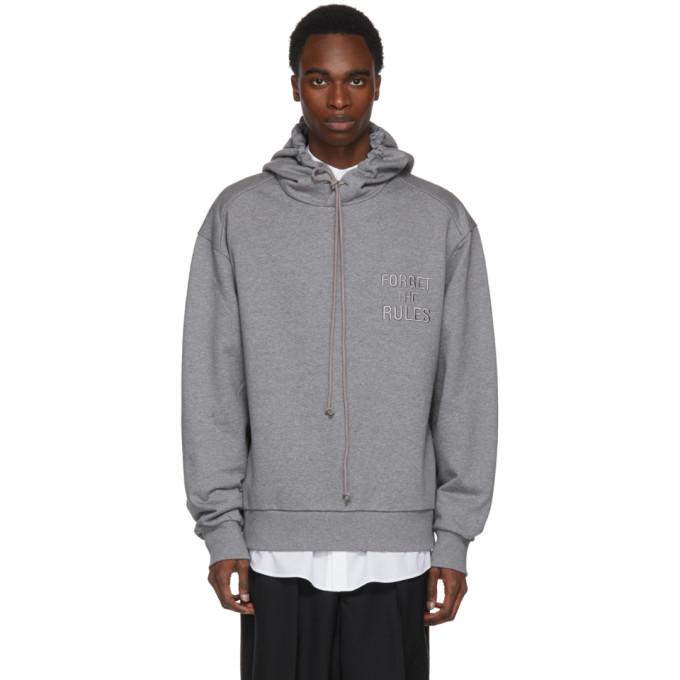 Forget the Rules hoodie - Grey Juun.J