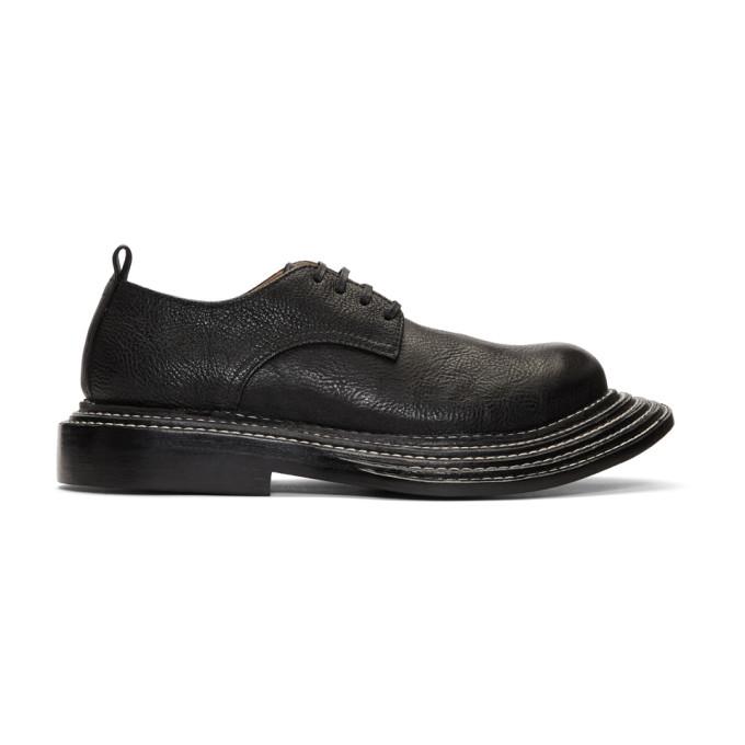 Black Shrunken Leather Derbys