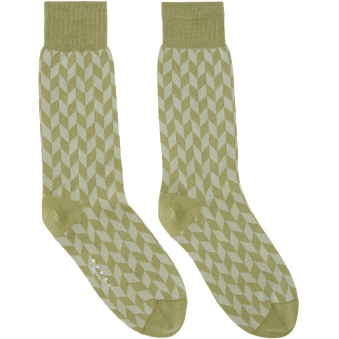 Green Jacquard Socks Marni
