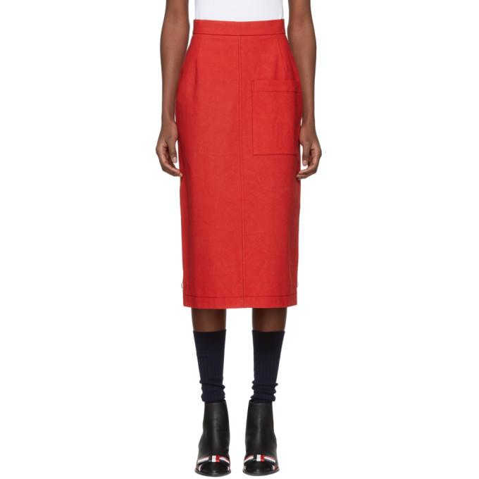 High Waist Cuban Pocket Skirt In Salt Shrink Cotton