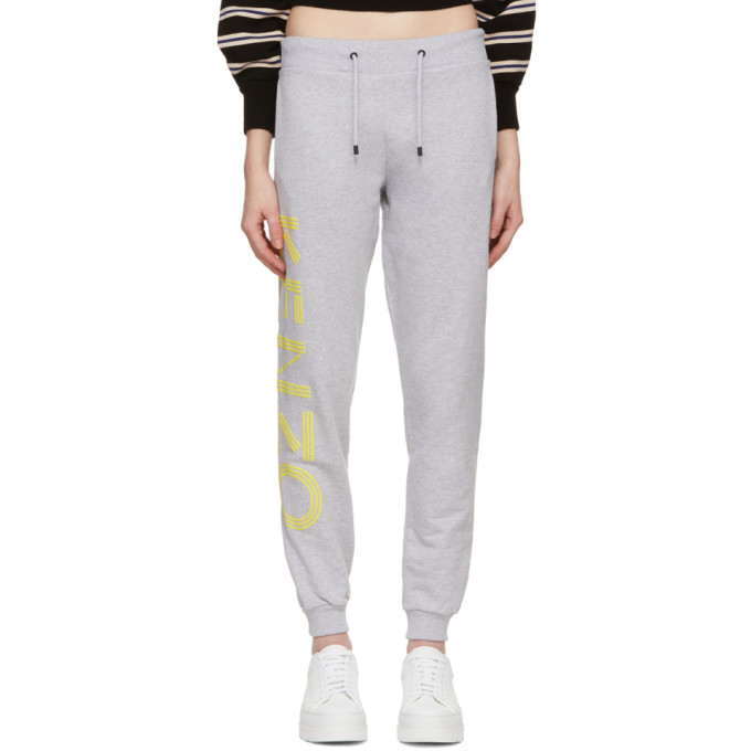Grey Logo Sport Jog Lounge Pants