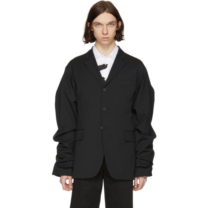Black Wide Sleeve Blazer by Kenzo