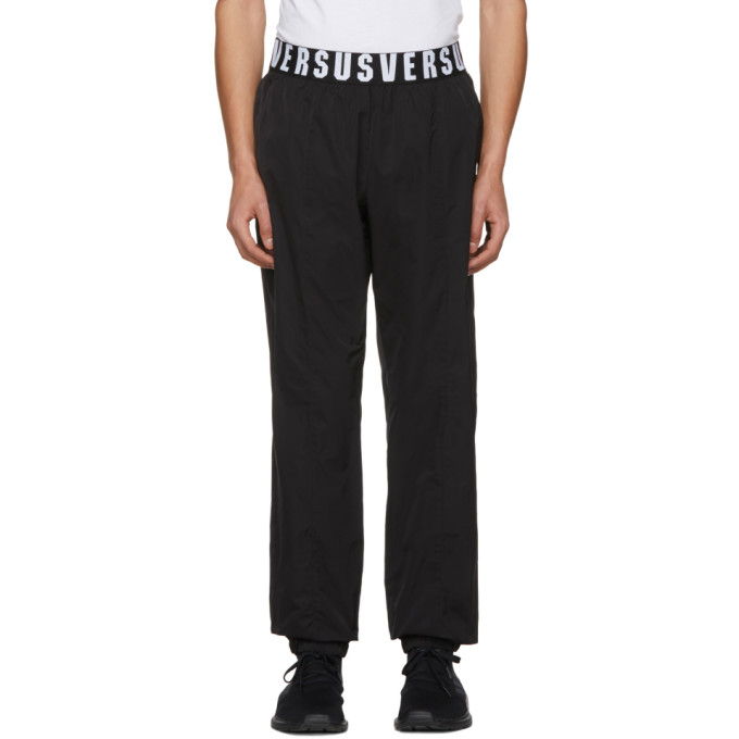 VERSUS Versus Black Logo Waistband Lounge Pants