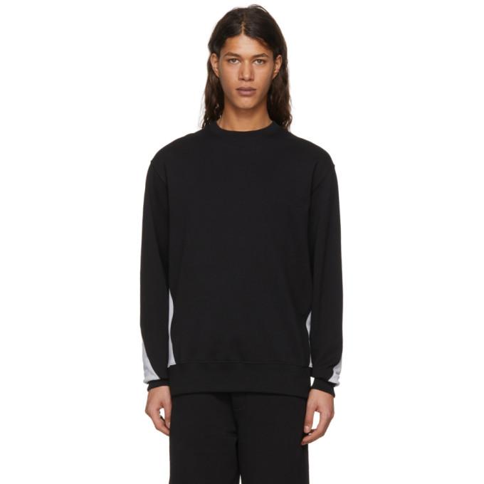 VERSUS Versus Black And Grey Logo Back Sweatshirt