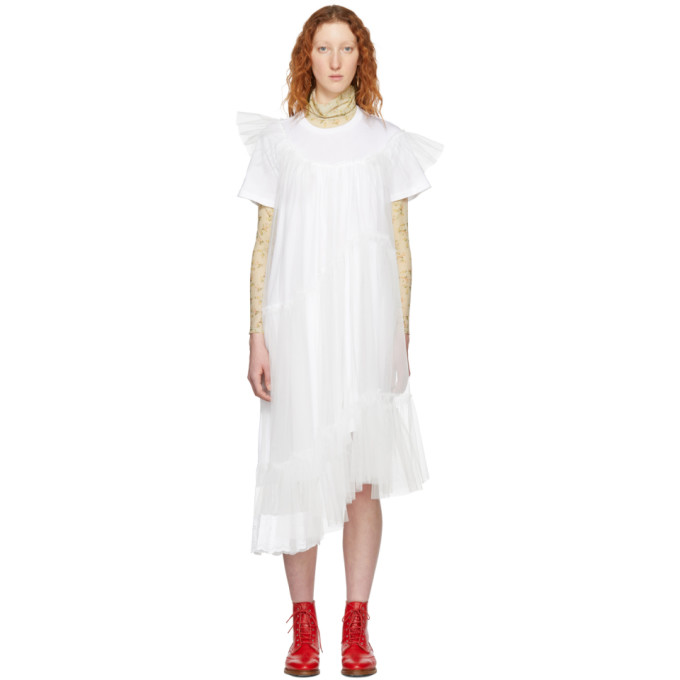 White Tulle T Shirt Dress by Simone Rocha