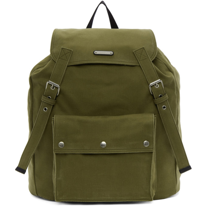 Khaki Noe Backpack by Saint Laurent