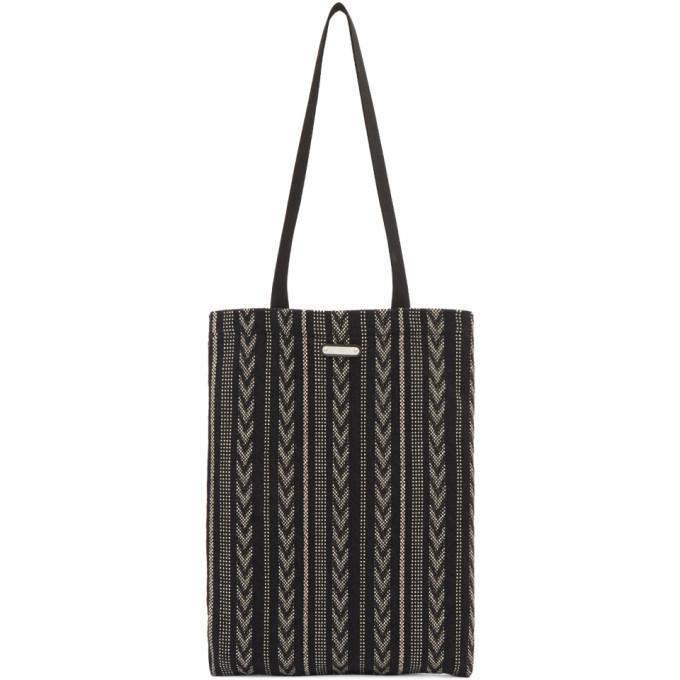 SAINT LAURENT Canvas Tote Bag, 9171 Black