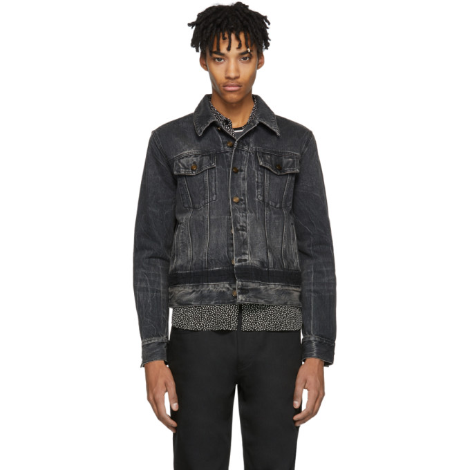 Black Denim Shadow Jacket by Saint Laurent