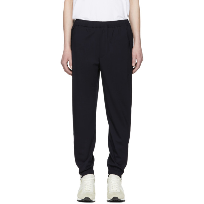 TIM COPPENS Tim Coppens Navy Wool Staple Jogger Trousers