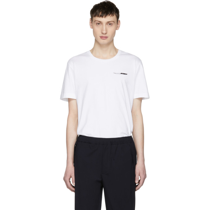TIM COPPENS Tim Coppens Black Silent Motive Knives T-Shirt in White