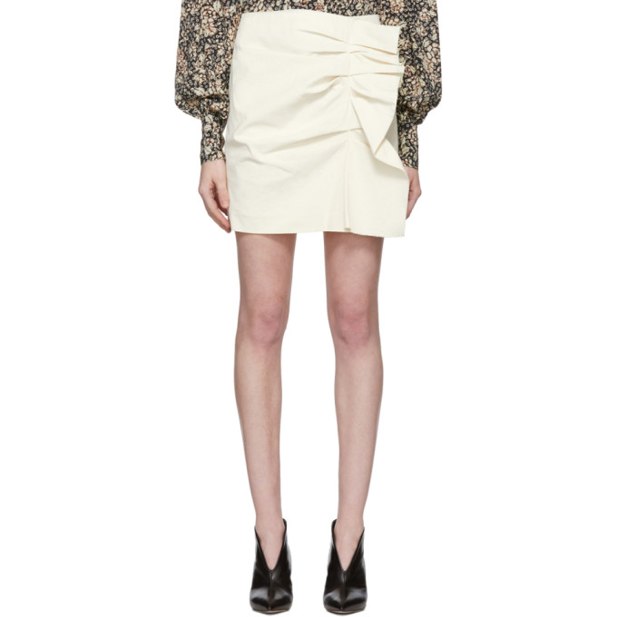 Off White Lefly New Stretch Cotton Skirt by Isabel Marant