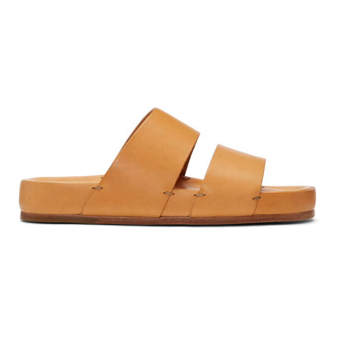 Tan Two-Strap Sandals