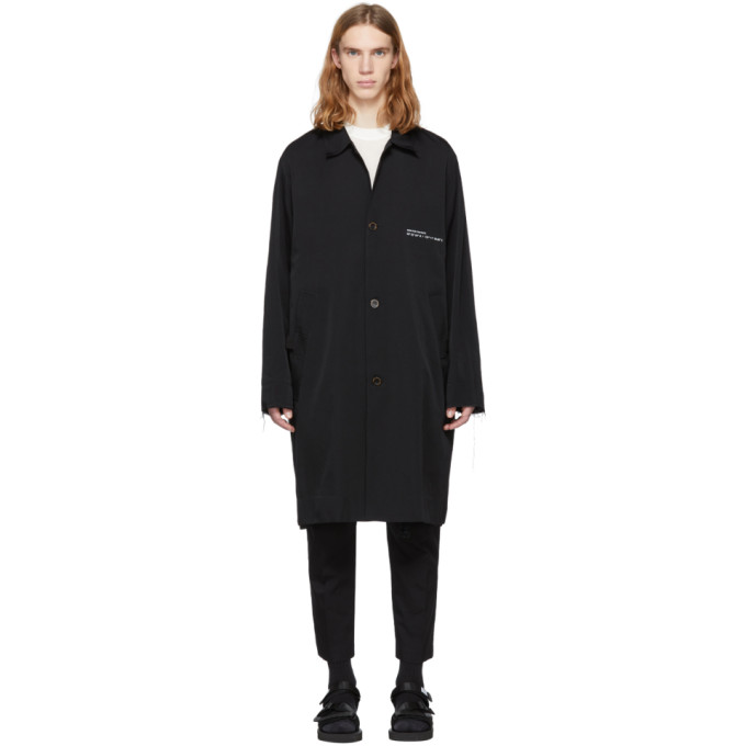 Black 'wander Beach' Coach Coat by Song For The Mute