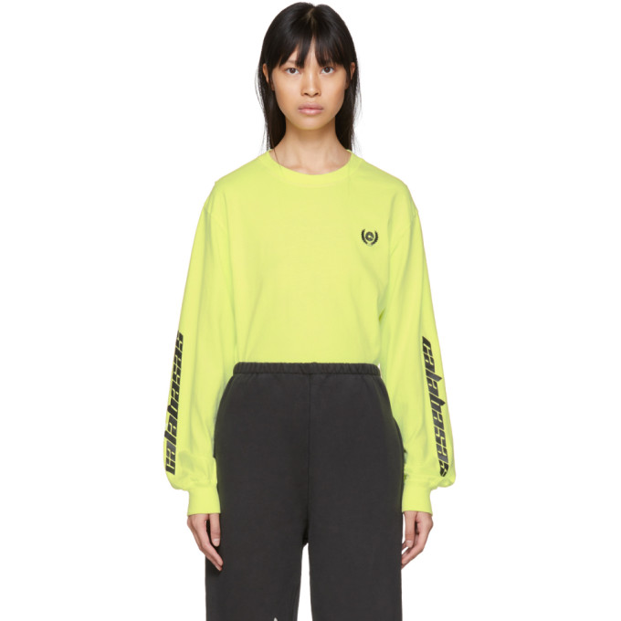 YEEZY YELLOW LONG SLEEVE CALABASAS T-SHIRT