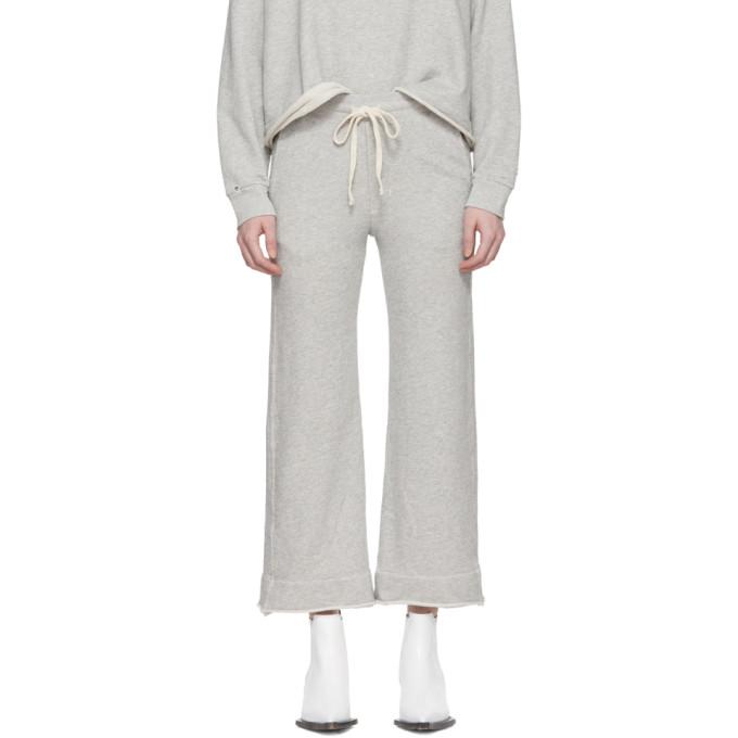Grey Wide Leg Sweatpants by Amo