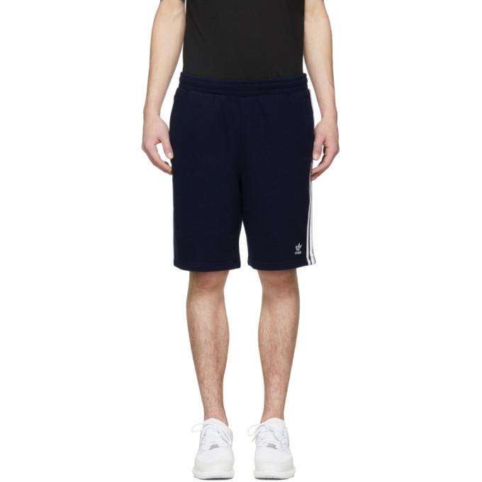 Adidas Originals  ADIDAS ORIGINALS NAVY 3-STRIPES SHORTS
