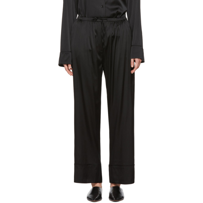 Black Silk Natal Wide Trousers by TotÊme