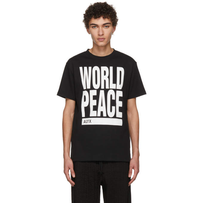 Black 'world Peace' T Shirt by Alyx