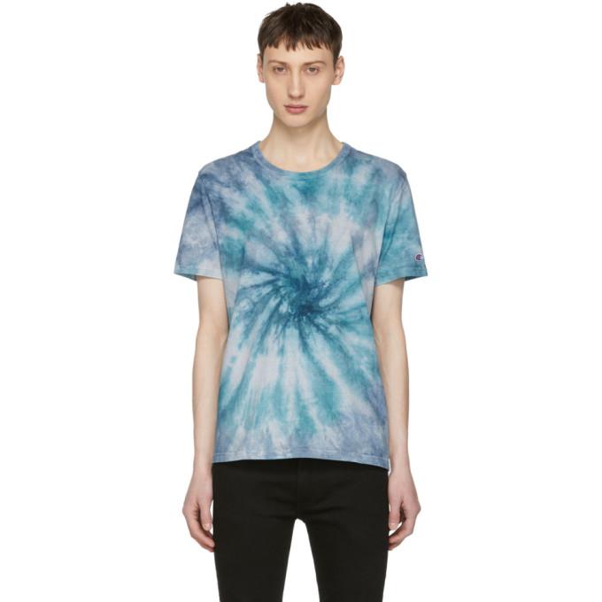 9e54d354d24a Shoptagr | Blue Tie Dye T Shirt by Champion Reverse Weave