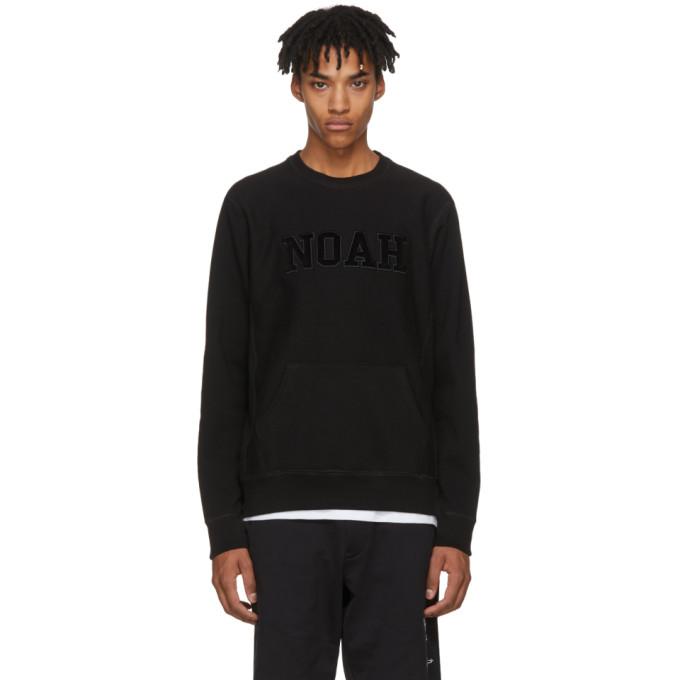 NOAH Noah Nyc Black Logo Core Crew Sweatshirt