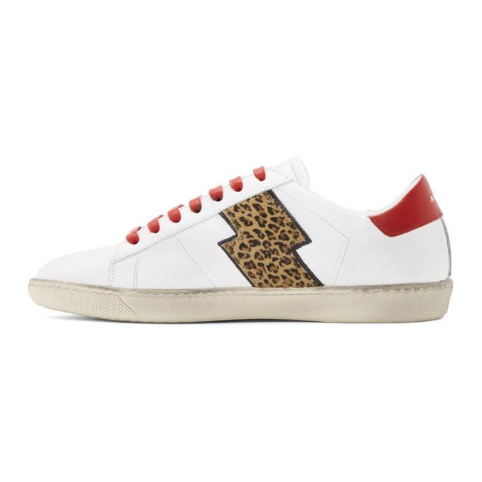 Amiri White Leopard Viper Sneakers