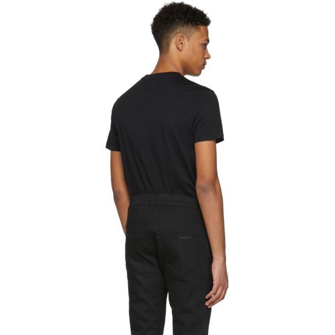 Three-Pack Black Triangle Logo T-Shirt Prada