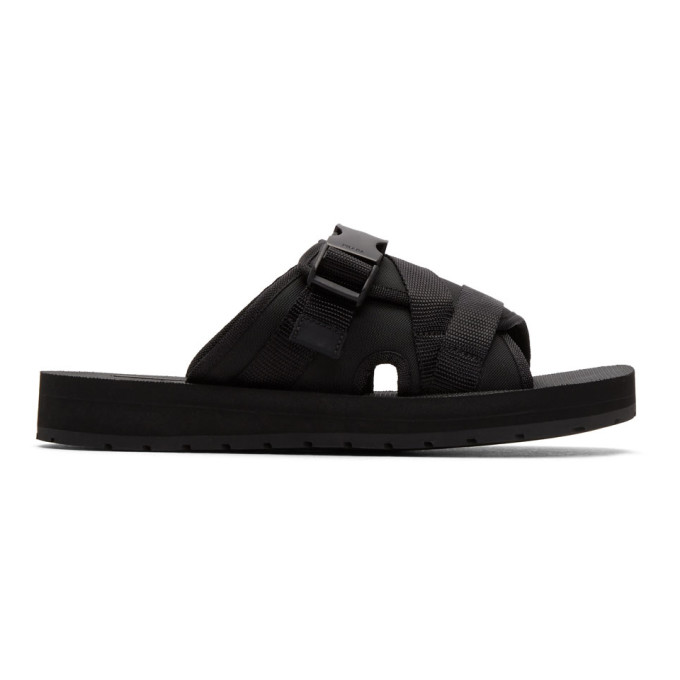 PRADA Clip Buckle-Fastening Strap Slides, Black