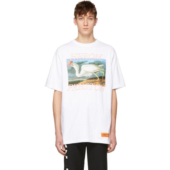 White Heron T Shirt by Heron Preston