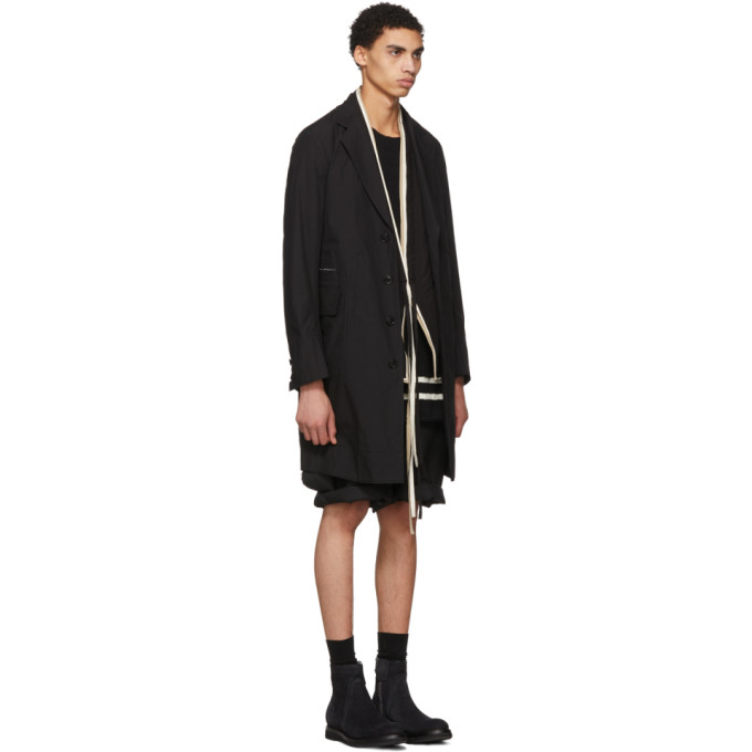 Black New Chesterfield Coat TAKAHIROMIYASHITA TheSoloist.