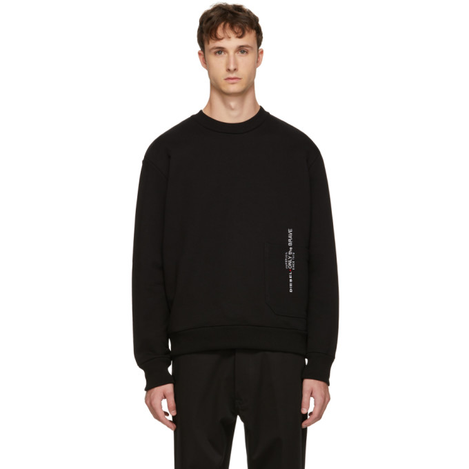 Black S Ellis Sweatshirt by Diesel