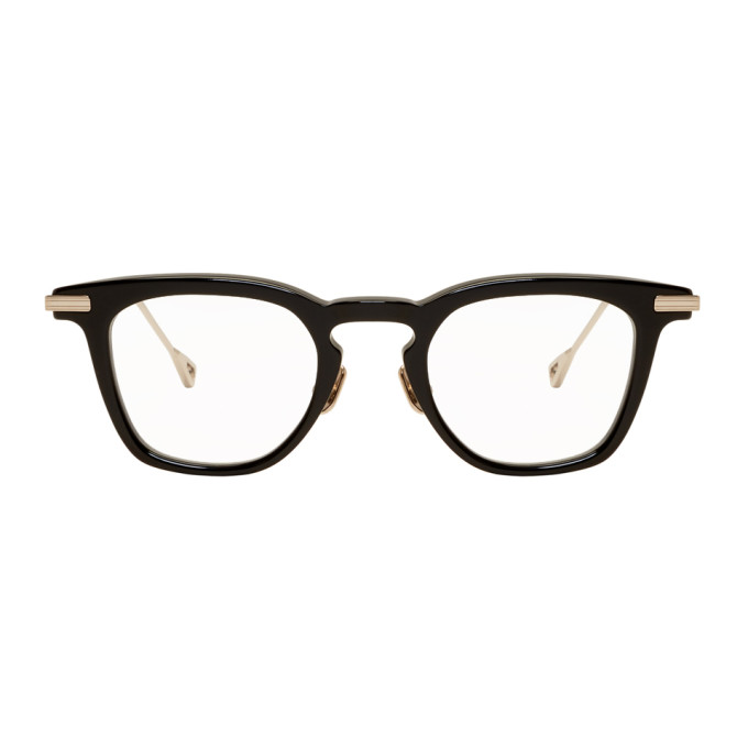 NATIVE SONS Black & Gold Verne Glasses in Black/Clear