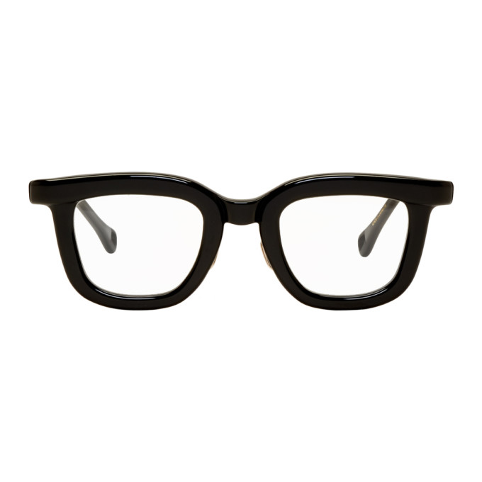 NATIVE SONS Native Sons Black Winfield Glasses in Black/Whtgl