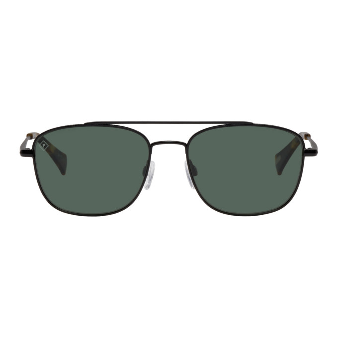 RAEN BLACK BAROLO AVIATOR SUNGLASSES